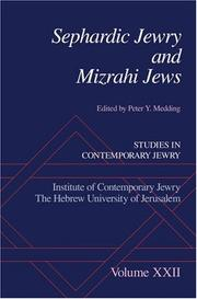 Cover of: Sephardic Jewry and Mizrahi Jews | Peter Y. Medding