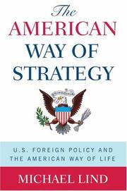 Cover of: The American Way of Strategy