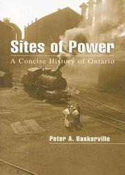 Cover of: Sites of Power: A Concise History of Ontario (Illustrated History of Canada)
