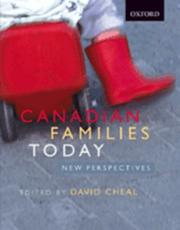 Cover of: Canadian Families Today | David Cheal