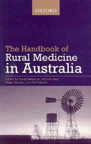 Cover of: The handbook of rural medicine in Australia