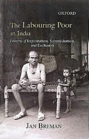 Cover of: The Labouring Poor in India