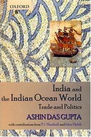 Cover of: India and the Indian Ocean World