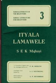 Cover of: Ityala Lamawele (Simplified) (Xhosa Literature for Beginners) by S.E.K. Mqhayi