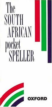 Cover of: The South African Pocket Speller |
