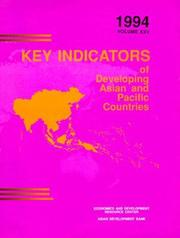 Cover of: Key Indicators of Developing Asian and Pacific Countries: Volume XXV: 1994 (Key Indicators of Developing Asian and Pacific Countries)
