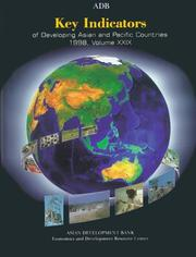Cover of: Key Indicators of Developing Asian and Pacific Countries: Volume XXIX: 1998 (Key Indicators of Developing Asian and Pacific Countries)
