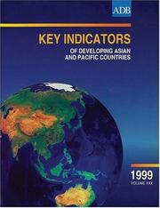 Cover of: Key Indicators of Developing Asian and Pacific Countries 1999, Volume XXX