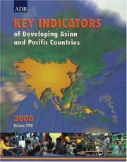 Cover of: Key Indicators of Developing Asian and Pacific Countries 2000, Volume XXXI