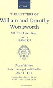 Cover of: The Letters of William and Dorothy Wordsworth: Volume VII: The Later Years | William Wordsworth, Dorothy Wordsworth