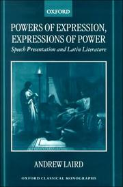 Cover of: Powers of Expression, Expressions of Power | Andrew Laird