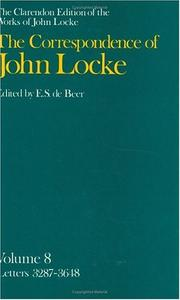 Cover of: The Correspondence of John Locke: Volume 8 | John Locke