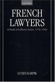 Cover of: French Lawyers | Lucien Karpik