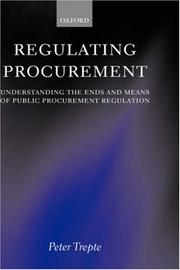 Cover of: Regulating Procurement | Peter Trepte