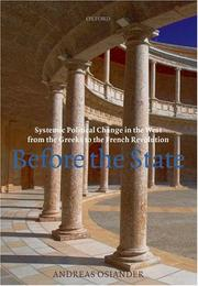 Cover of: Before the State