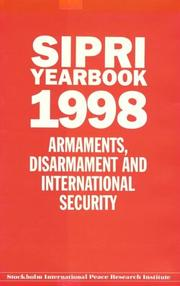 Cover of: Sipri Yearbook 1998 (Sipri Yearbook) | 1998 Ed