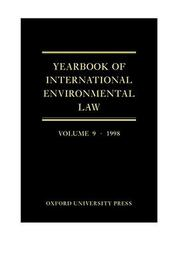 Cover of: Yearbook of International Environmental Law: Volume 9 |