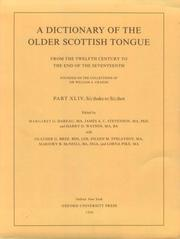 Cover of: A dictionary of the older Scottish tongue
