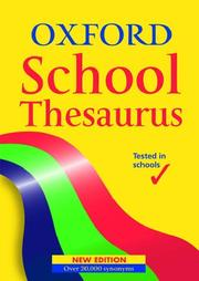 Cover of: Oxford School Thesaurus