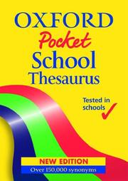 Cover of: Oxford Pocket School Thesaurus