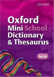 Cover of: Oxford Mini School Dictionary and Thesaurus (Dictionary/Thesaurus)
