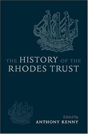 Cover of: The History of the Rhodes Trust