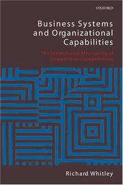 Cover of: Business Systems and Organizational Capabilities | Richard Whitley