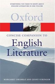 Cover of: The concise Oxford companion to English literature