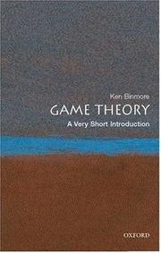 Cover of: Game Theory | Ken Binmore