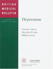 Cover of: Depression (British Medical Bulletin)