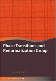 Cover of: Phase Transitions and Renormalisation Group (Oxford Graduate Texts)
