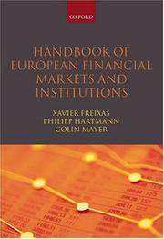 Cover of: Handbook of European financial markets and institutions