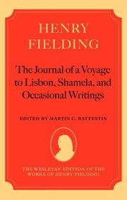 Cover of: Henry Fielding - 'The Journal of a Voyage to Lisbon', 'Shamela', and Occasional Writings