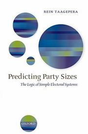 Cover of: Predicting Party Sizes