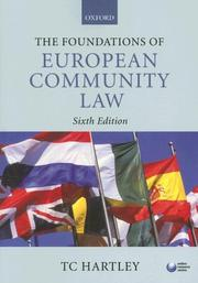 Cover of: The Foundations of European Community Law | Trevor Hartley