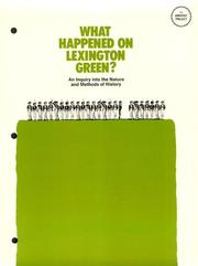 Cover of: What Happened on Lexington Green by P. Bennett