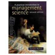 Cover of: A Practical Introduction to Management Science