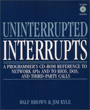 Cover of: Uninterrupted Interrupts | Ralf Brown