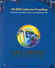 Cover of: CHI '00 Conference Proceedings