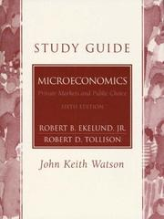 Cover of: Study Guide Microeconomics | Robert B. Ekelund