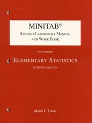 Cover of: Minitab Student Laboratory Manual and Workbook to Accompany Elementary Statistics