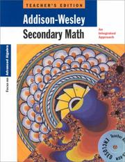 Cover of: Secondary Math