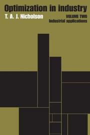 Cover of: Optimization in Industry: Volume 2