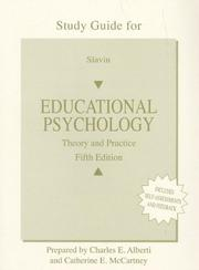 Cover of: Educational Psychology (Workbook) | Catherine E. McCartney, Charles E. Alberti
