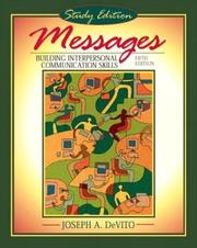 Cover of: Messages | Joesph A. DeVito