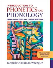 Cover of: Introduction to Phonetics and Phonology