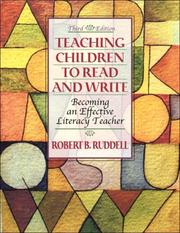 Teaching children to read and write by Robert B. Ruddell