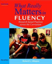 Cover of: What Really Matters in Fluency