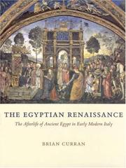 Cover of: The Egyptian Renaissance | Brian Curran