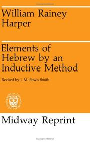 Cover of: Elements of Hebrew by an Inductive Method